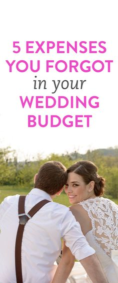 5 things you forgot in your wedding budget. I also love the couple's outfits and her hair!