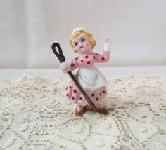 Vintage Bo Peep Germany Bone China Figurine Nursery Rhyme Porcelain Hand Painted by KansasKardsStudio on Etsy