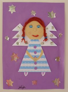 Angel Christmas Art Project for kids