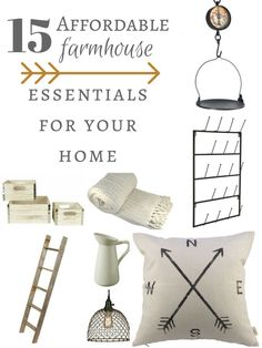 DIY Home Decor Ideas : Illustration Description Do you love farmhouse style? Do you hate spending a fortune decorating your home? Check out these affordable farmhouse style decor items! Trendy Home Decor, Affordable Home Decor, Home Decor Styles, Cheap Home Decor, Diy Home Decor, Farmhouse Style Decorating, Decorating Your Home, Farmhouse Decor, Decorating Ideas