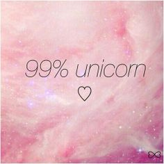 Let's be unicorns.