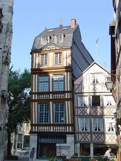 Old Rouen, France. Little restaraunt on this Square called 'La Walsheim' and is well worth a visit.