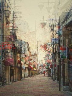 """thekhooll: """" Multiple exposure photographs by Stephanie Jung Stephanie Jung is a German photographer with a very individual perspective on urban landscapes. Her multiple exposure series from Japan is particularly impressive, featuring her unique view. Cityscape Photography, Exposure Photography, Urban Photography, Street Photography, Landscape Photography, Japanese Photography, Creative Photography, Foto Picture, Photo Art"""