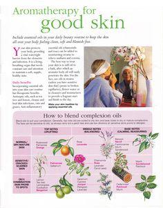 Aromatherapy for good skin