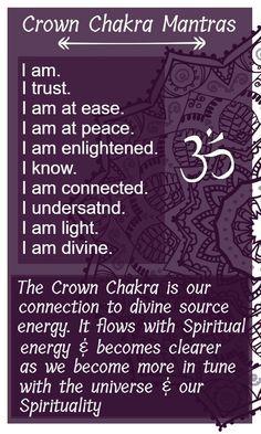Crown chakra mantras #reiki