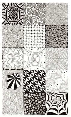Zentangle Fun with Mary Elizabeth Doodle Art Designs, Doodle Patterns, Line Patterns, Zentangle Patterns, Textures Patterns, Tangle Doodle, Tangle Art, Zen Doodle, Zentangle Drawings
