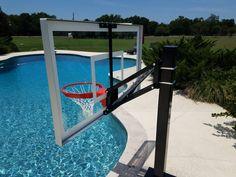 Swimming Pools Backyard, Swimming Pool Designs, Pool Decks, Pool Basketball, Basketball Systems, Sport Pool, Pool Remodel, Cool Pools, New Homes
