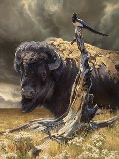 Current Work — The Art of Dustin Van Wechel Wildlife Paintings, Wildlife Art, Animal Paintings, Buffalo Animal, Buffalo Art, Buffalo Pictures, Buffalo Painting, Hunting Art, National Animal