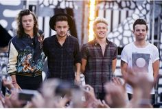 "Shown here earlier this month are One Direction members, from left, Harry Styles, Liam Payne, Niall Horan and Louis Tomlinson as they perform on ABC's ""Good Morning America"" in New York. They performed at Rogers Centre Thursday night in Toronto."