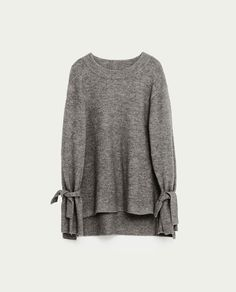 Image 8 of SWEATER WITH TIE SLEEVES from Zara