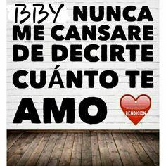 Nunca te canses amor. Te amo...JVR&DGN➳♡ ∞