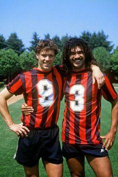 Milan's Marco Van Basten & Ruud Gullit #FootballLegends