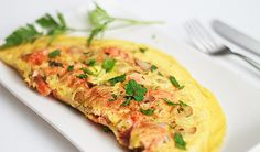 Salmon Omelette with Potatoes and Herbs using Last Night's Leftovers // wishfulchef.com