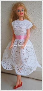 Sweet Nothings Crochet beautiful lotus dress for Barbie