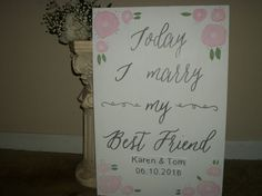 Today I marry my best friend wedding wood sign by SignReads