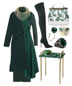 """""""Emerald Jewel"""" by cherieaustin ❤ liked on Polyvore featuring Gianvito Rossi, Nina Ricci, Gucci, Tammy & Benjamin, Jason Wu, Rochas and L'Objet"""