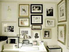 Галерея на стене: 20 удачных примеров – Вдохновение
