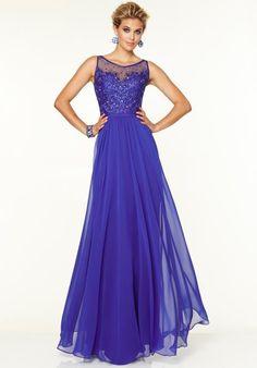 Mori Lee Long Flowy Dress 97129
