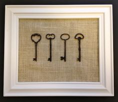 my next diy project with some antique keys