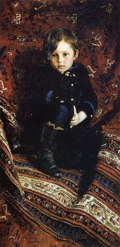 """Portrait of Yuriy Repin, the Artist's son"" by Ilya Repin (1882)"