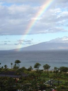 Somewhere over the rainbow, miracles happen at Honua Kai Resort in Lahaina, Maui. Wish more than anything we could go back there now and make new memories again. If only..,