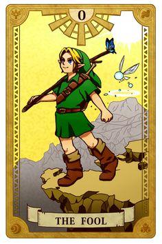 The Fool, Legend of Zelda, Tarot artwork by 空谷 (Kuukoku)
