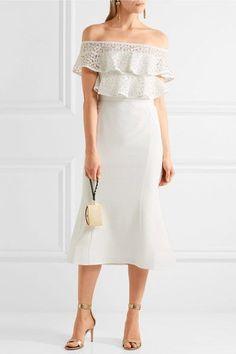 Crepe Dress - Off-white Antonio Berardi Visit Cheap Price Best Cheap Online Cheap Sale Cheapest 3GjHDW