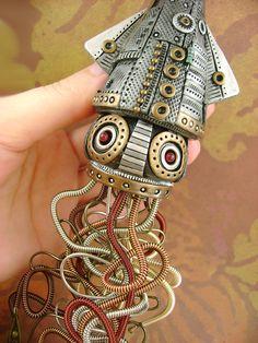 Steampunk Style Sculpture and Design from Monster Kookies | Heart Handmade Blog