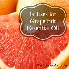 14 Uses for grapefruit essential oil http://thesurvivalmom.com/10-uses-grapefruit-essential-oils/?utm_campaign=coschedule&utm_source=pinterest&utm_medium=The%20Survival%20Mom%20(Family%20Survival%20%26amp%3B%20Preparedness)&utm_content=14%20Uses%20for%20grapefruit%20essential%20oil
