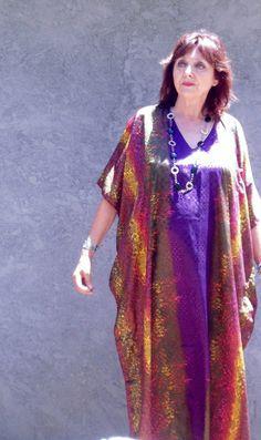Hostess Gown Robe Vintage Robe Elegant Kaftan by LovedaStuff