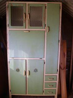 VINTAGE 1950's KITCHEN CABINET LARDER CUPBOARD