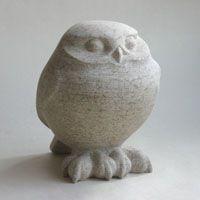 Little Owl stone sculpture by Jennifer Tetlow. Bird Sculpture, Stone Sculpture, Animal Sculptures, Sculpture Ideas, Ceramic Birds, Ceramic Animals, Owl Art, Bird Art, Stone Carving