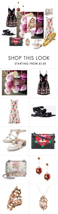 """Untitled #91"" by cat-garfield on Polyvore featuring The 2nd Skin Co., Erdem, Valentino, René Caovilla, Loewe, Fendi, Silvia Furmanovich and LE VIAN"