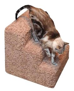 Wooden Pet Steps Ramp Cat Stairs, Pet Ramp, Pet Steps, Stair Steps, Large Animals, Burlap, Reusable Tote Bags, Pets, Animals And Pets