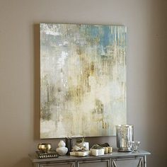 "Paris Mist Art in two sizes: 40"" X 32"" and 50"" X 40"" #abstractart"