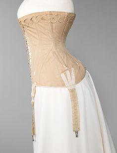 Corset ca. 1904-1906 via The Costume Institute of The Metropolitan Museum of Art