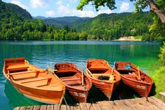 Boats in Lake Bled HD Wallpapers, Wallpapers For Desktop, Android, Iphone,nature wallpapers,anime wallpapers,car wallpapers