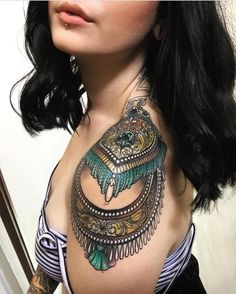 """5,429 Likes, 51 Comments - Chrissy Hills Tattoo (@epicterror) on Instagram: """"@summerheathtattoo 's loooovely photo feat. her healed epaulette by me! Super pleased with how this…"""""""