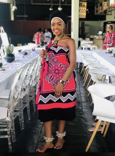 Zulu Traditional Attire, African Traditional Wedding Dress, African Fashion Traditional, Traditional Wedding Attire, Traditional Outfits, African Fashion Ankara, African Print Dresses, African Print Fashion, Africa Fashion