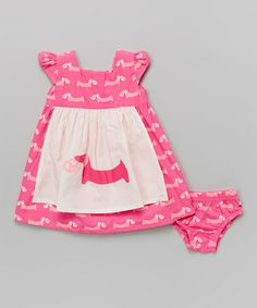 This Candy Pup Apron Dress & Diaper Cover - Infant, Toddler & Girls by KicKee Pants is perfect! #zulilyfinds