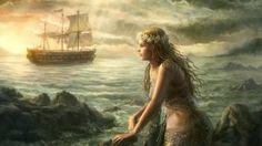 """THE MAID ON THE SHORE: la ballata è collocabile tra le """"warning ballads"""" in cui una fanciulla riesce a trionfare con l'astuzia sulle prepotenti voglie maschili. La fanciulla potrebbe essere addirittura una sirena, che il capitano ha visto in una notte di luna camminare lungo la spiaggia e di cui si è invaghito. Manda una scialuppa a prenderla per portarla sulla nave, e lei si mette a cantare gettando un incantesimo sugli uomini della nave. E qui finisce il tema fantastico e magico: la…"""