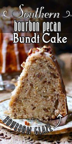 Bourbon Cake, Sweet Bourbon, Bourbon Whiskey, Just Desserts, Delicious Desserts, Dessert Recipes, Glaze For Cake, Bundt Cake Glaze, Loaf Cake
