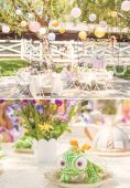 tangled themed tablescape