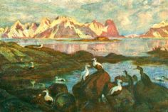 Kunstnerkort Thorolf Holmboe ca 1910/20-tallet