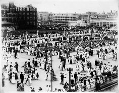 Cool picture that shows what Asbury Park looked like when my grandmother was 20....Asbury Park, NJ 1919 - Hippodrome Carousel building and surroundings