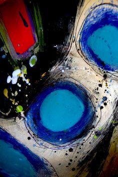 Closeup by Linda Styles Pottery Painting Designs, Original Paintings For Sale, Keramik Vase, Acrylic Wall Art, Clay Art, Love Art, Oeuvre D'art, Ceramic Art, Les Oeuvres