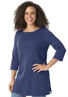Plus Size 7-Day 3/4 sleeve tunic