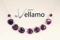 February birthstone amethyst earrings and necklace by byVellamo, $51.00