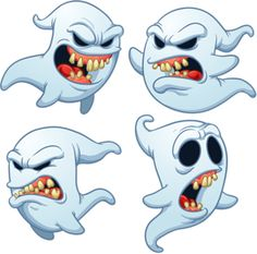 """Buy the royalty-free Stock vector """"Evil cartoon ghosts. Vector illustration with simple gradients. Ghost Cartoon, Cartoon Monsters, Casper Cartoon, Ghost Drawing, Graffiti Drawing, Graffiti Lettering Fonts, Tattoo Lettering Fonts, Desenho New School, Casper Ghost"""