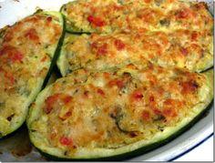 Baked & Stuffed Zucchini